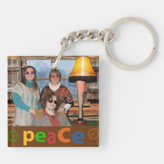 Funny Peace and Joy this Christmas Keychain