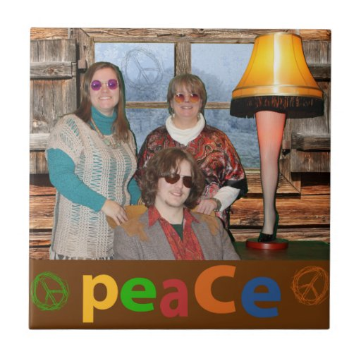 Funny Peace and Joy this Christmas Tile
