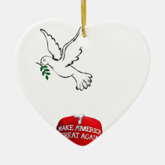 funny peace-promoting 2017 collectible ceramic ornament
