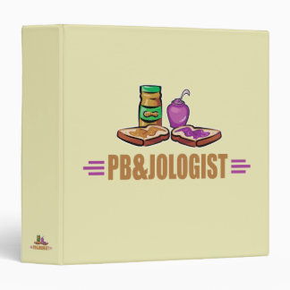 Funny Peanut Butter and Jelly 3 Ring Binder