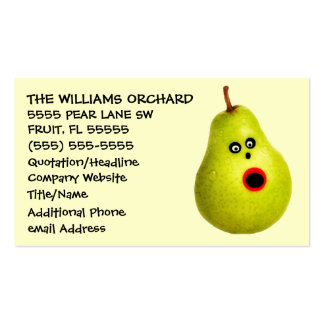 Funny Pear Grower Advertising Double-Sided Standard Business Cards (Pack Of 100)
