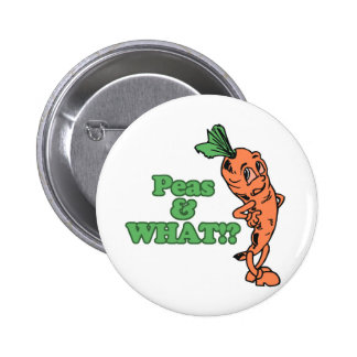 funny peas and what worried carrot 2 inch round button