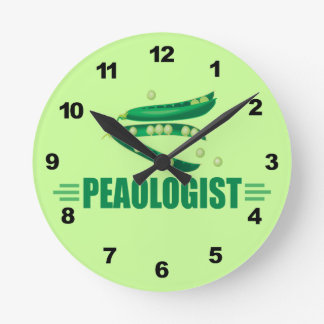 Funny Pease Round Clock