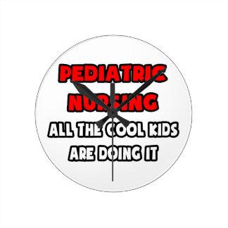 Funny Pediatric Nurse Shirts and Gifts Clock