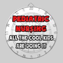 Funny Pediatric Nurse Shirts and Gifts Dartboard