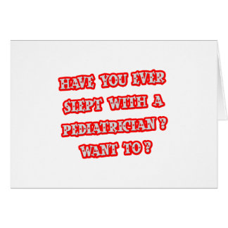 Funny Pediatrician Pick-Up Line Cards