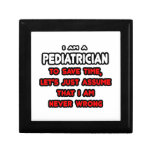 Funny Pediatrician T-Shirts and Gifts Jewelry Boxes