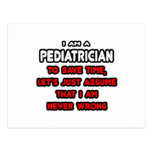 Funny Pediatrician T-Shirts and Gifts Post Cards
