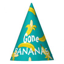 Funny peeled bananas pattern party hat
