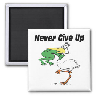 Funny Pelican 2 Inch Square Magnet