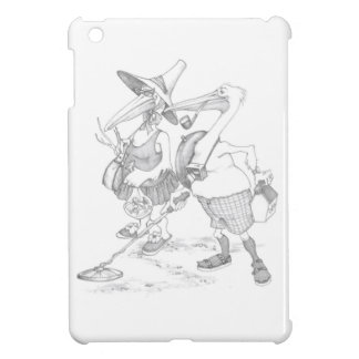 funny pelican tourist beach Mom Pop birds iPad Mini Covers
