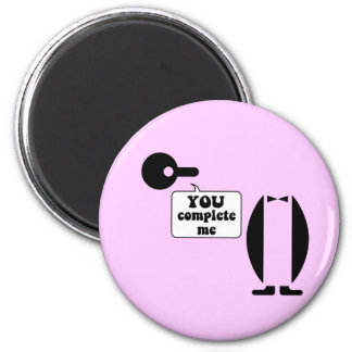 Funny penguin 2 inch round magnet