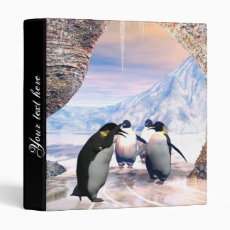 Funny penguin 3 ring binder