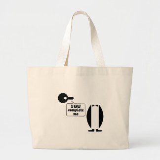 Funny penguin tote bags