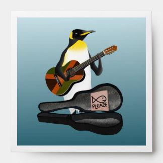 Funny Penguin Busking Envelope
