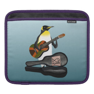 Funny Penguin Busking Sleeve For iPads