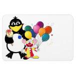 Funny penguin & clown cartoon flexible magnets