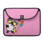 Funny penguin & clown cartoon sleeve for MacBook pro