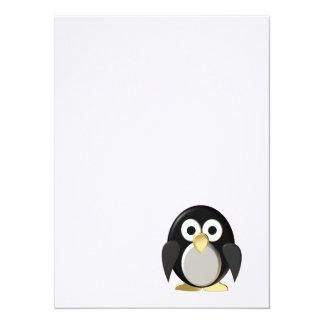 Funny penguin personalized invitations