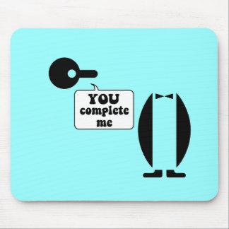 Funny penguin mousepads