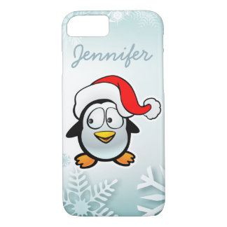 Funny Penguin With Christmas hat iPhone 8/7 Case