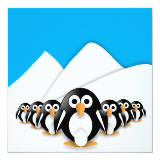 Funny penguins card