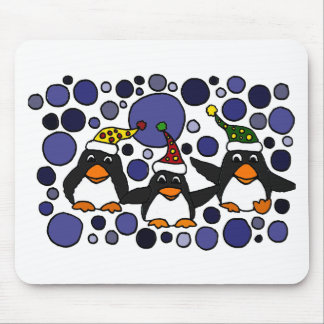 Funny Penguins in the Snow Art Abstract Mousepad