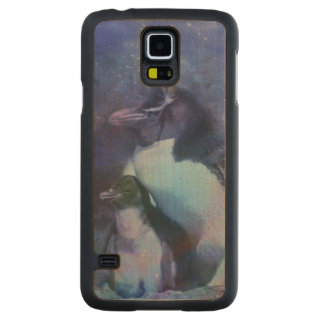 Funny Penguins in Tuxedos Carved Maple Galaxy S5 Slim Case