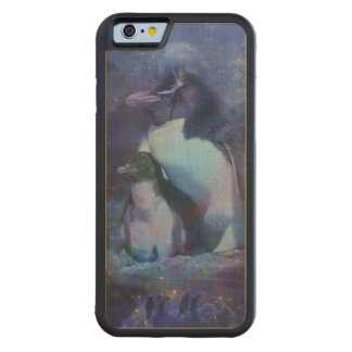 Funny Penguins in Tuxedos Carved® Maple iPhone 6 Bumper Case