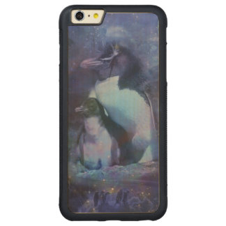 Funny Penguins in Tuxedos Carved® Maple iPhone 6 Plus Bumper Case