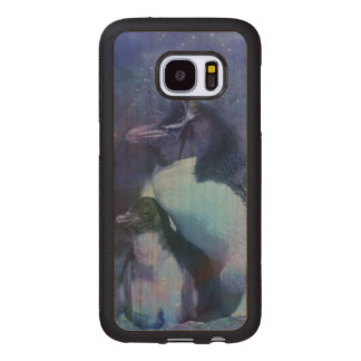 Funny Penguins in Tuxedos Wood Samsung Galaxy S7 Case