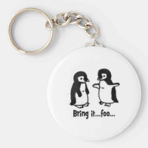 Funny penguins key chains