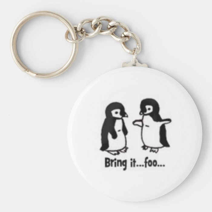 Funny penguins keychain