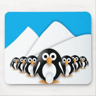 Funny penguins mousepad