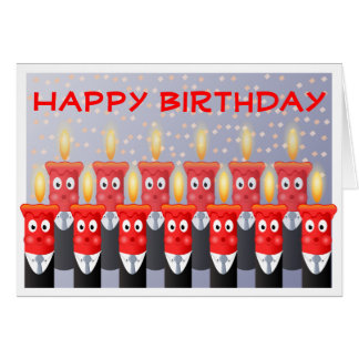 Funny People Candles Happy Birthday From All of Us Card