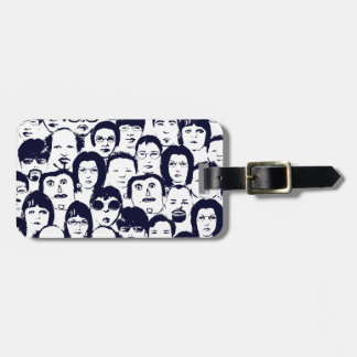 Funny People Faces Graphics Collection Travel Bag Tags