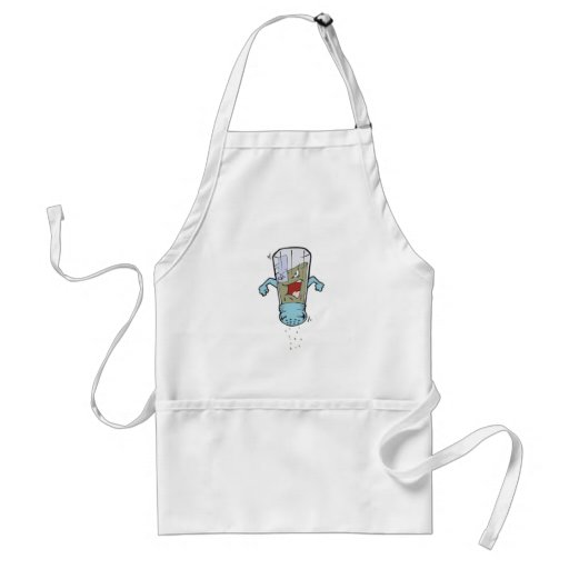 funny pepper shaker cartoon character adult apron