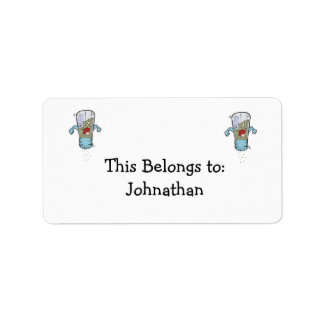 funny pepper shaker cartoon character custom address label