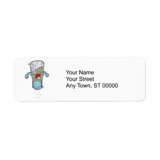 funny pepper shaker cartoon character label