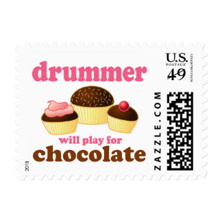 Funny Percussion Drummer Postage Stamps