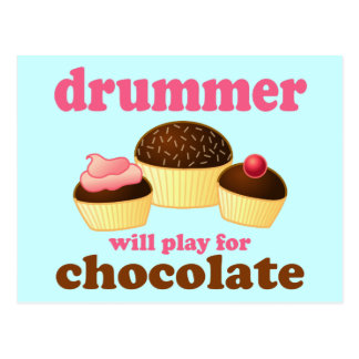 Funny Percussion Drummer Postcard