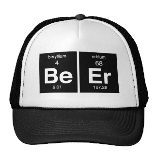 """Funny Periodic table """"Beer"""" Trucker Hat"""
