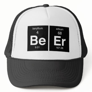 "Funny Periodic table ""Beer"" Trucker Hat"