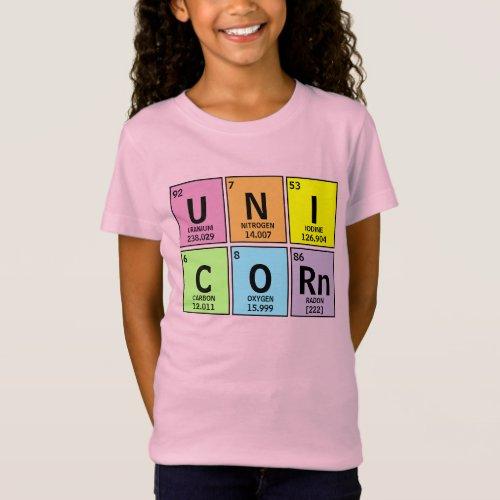 Funny Periodic Table of Elements Unicorn Rainbow T_Shirt