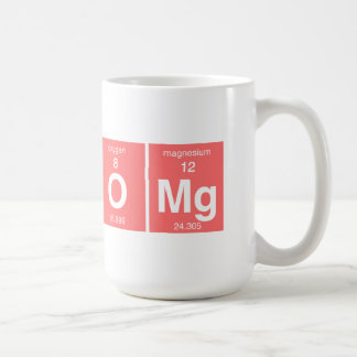 "Funny Periodic table ""OMG"" Classic White Coffee Mug"
