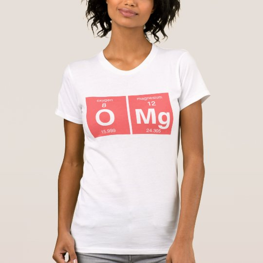 """Funny Periodic table """"OMG"""" T-Shirt"""
