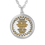 Funny Personal Trainer ... Because I Said So Round Pendant Necklace