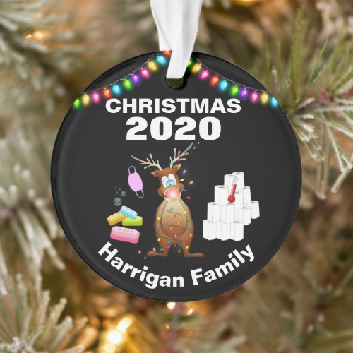 Funny Personalized 2020 Covid Christmas Tree Ornament
