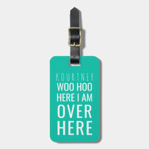 fa7f6b808fb8 Funny Personalized Bag Attention | Humor Green Bag Tag
