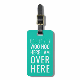 Funny Personalized Bag Attention | Humor Green Bag Tag